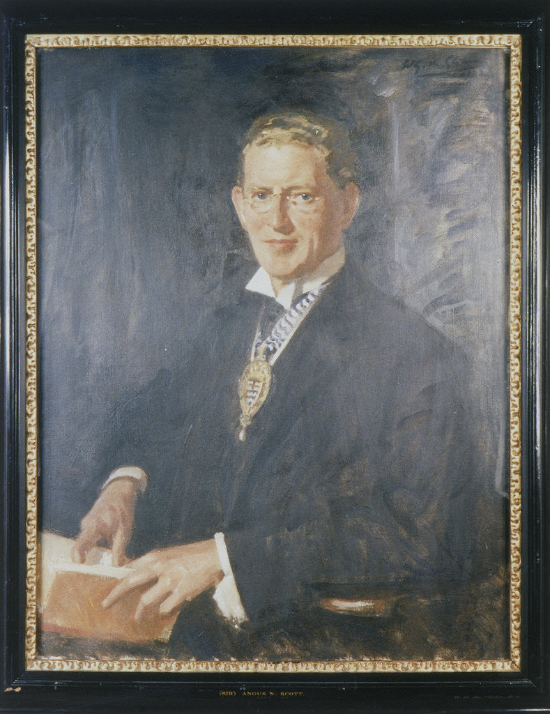 Detail of Sir Angus Newton Scott by Wilfred Gabriel de Glehn