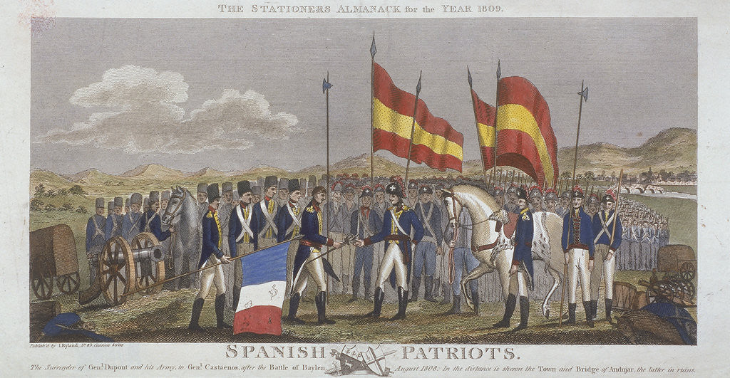Detail of Spanish patriots by Anonymous
