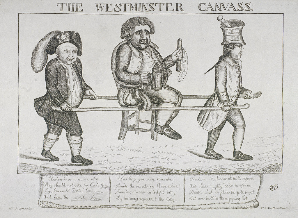 Detail of The Westminster canvass by