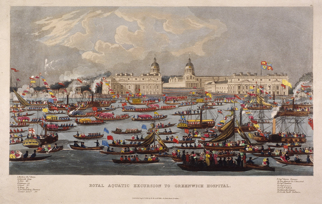 Royal Aquatic Excursion to Greenwich Hospital by Anonymous