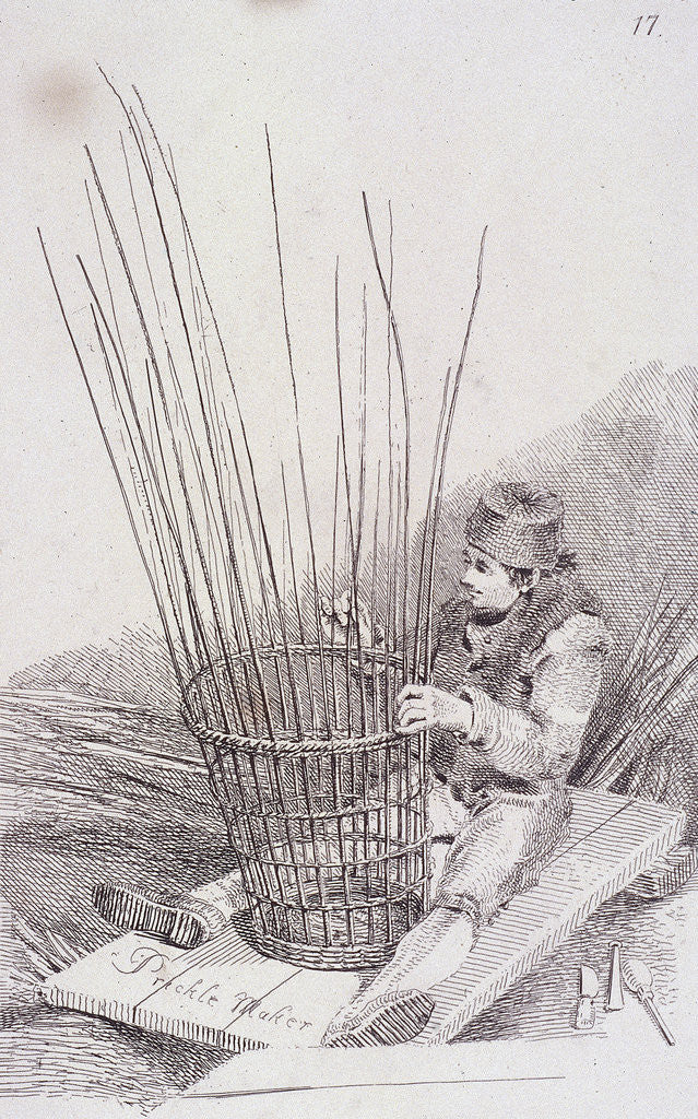Detail of Prickle Maker, Cries of London, (c1819?) by John Thomas Smith