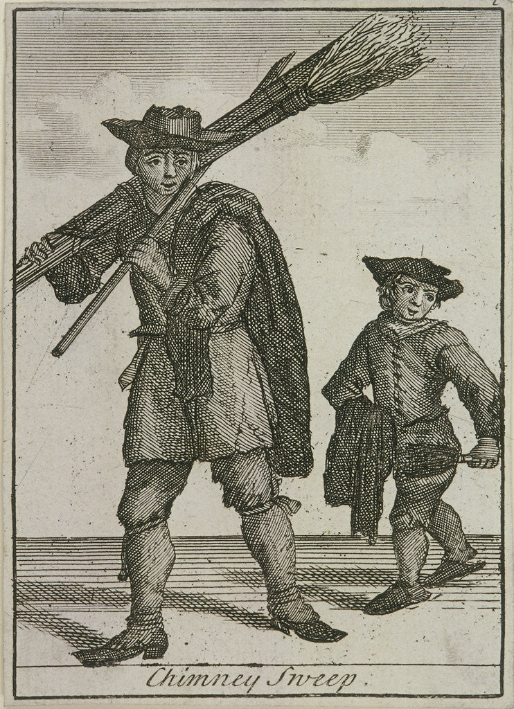 Detail of Chimney Sweep, Cries of London, (c1688?) by