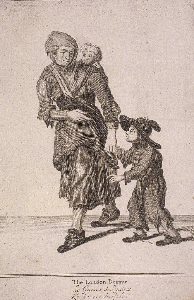 Detail of The London Beggar, Cries of London, (c1688?) by Anonymous