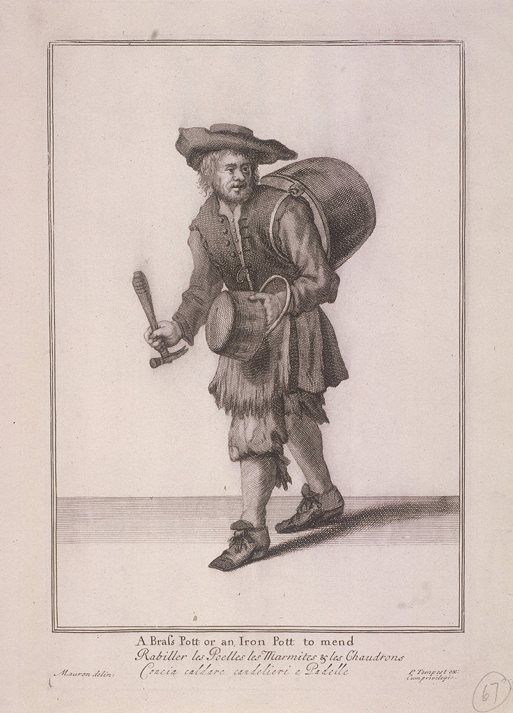 A Brass Pott or an Iron Pott to mend, Cries of London, (c1688?) by Anonymous