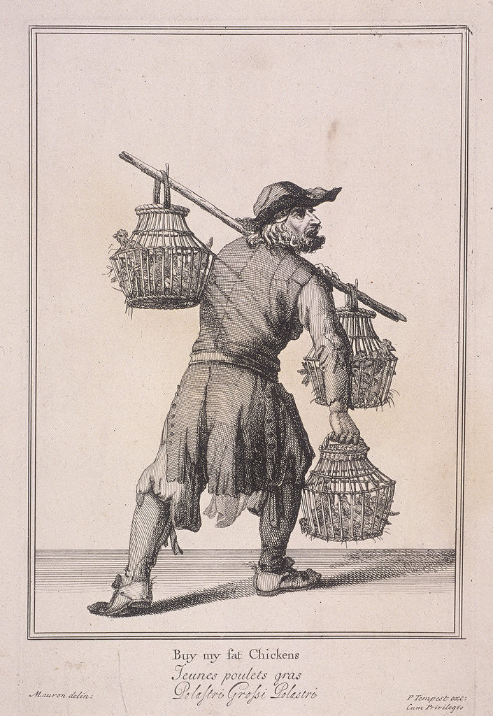 Buy my fat Chickens, Cries of London, (1688?) by