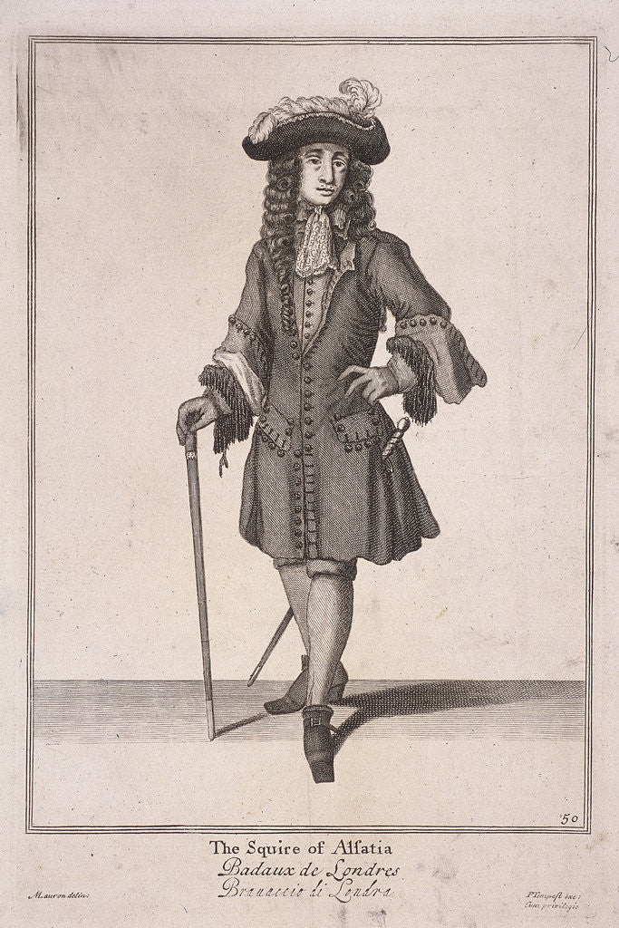 Detail of The Squire of Alsatia, Cries of London, (1688?) by