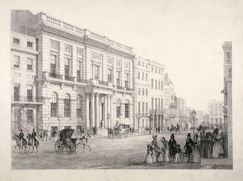 Detail of View of Oxford and Cambridge University Club, in Pall Mall, Westminster, London by
