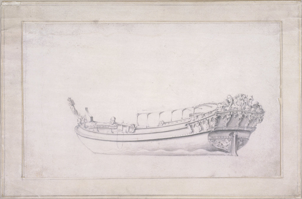 Detail of Design for a city of London barge by