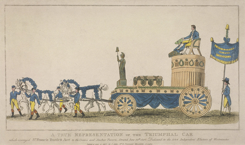 Detail of Triumphal car, pulled by four horses, June 29th by Anonymous