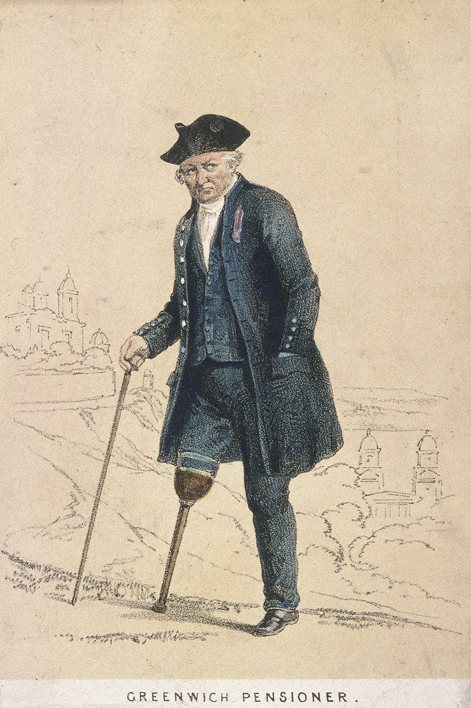 Detail of A Greenwich pensioner with one leg by