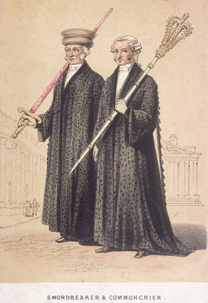 Detail of A Swordbearer and a Commoncrier by Day & Son