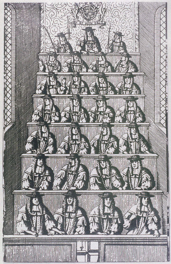 Detail of View of the Lord Mayor and court of Aldermen, depicted in 1681 by Anonymous