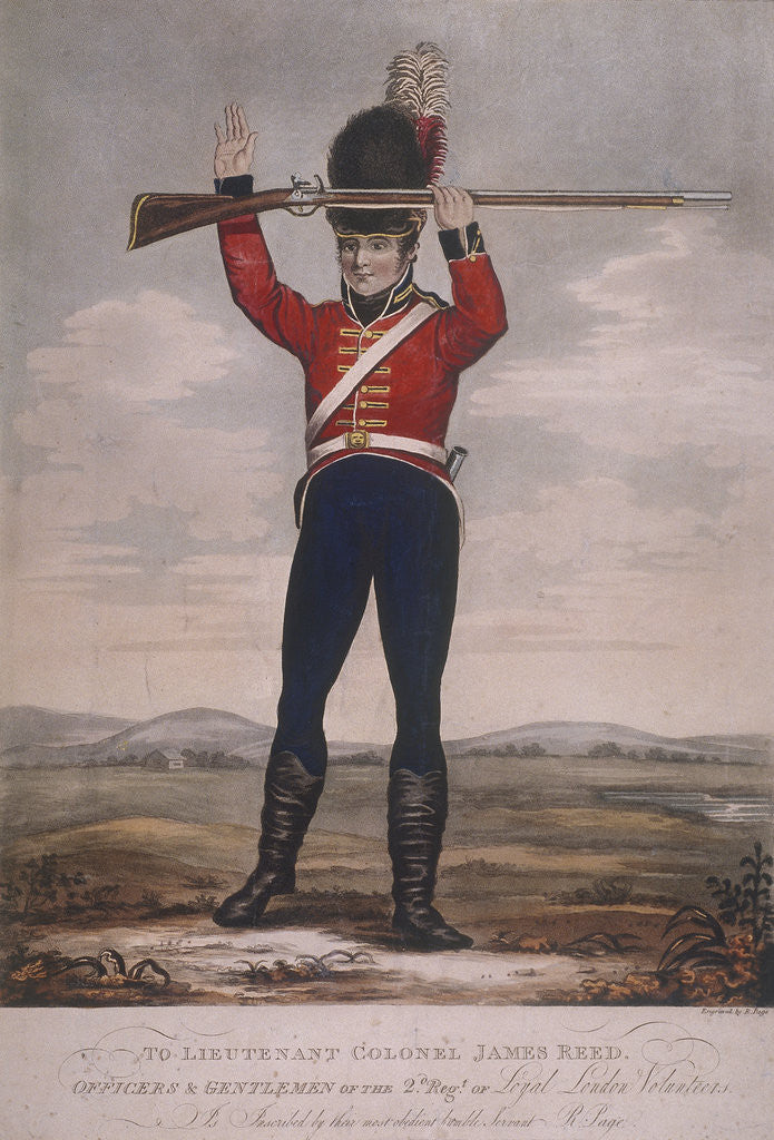 Detail of Soldier of the second regiment of Loyal London Volunteers by R Page