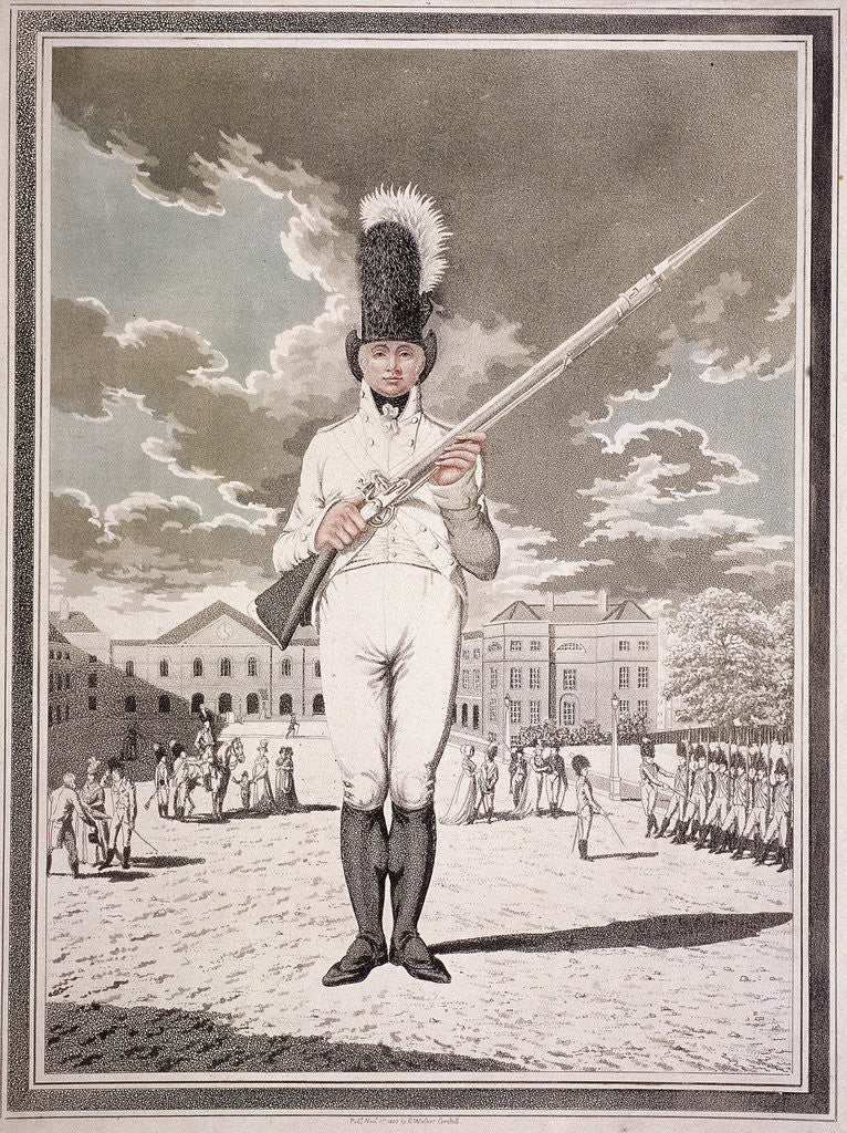 Military figure in the uniform of the Bloomsbury and Inns of Court Association by