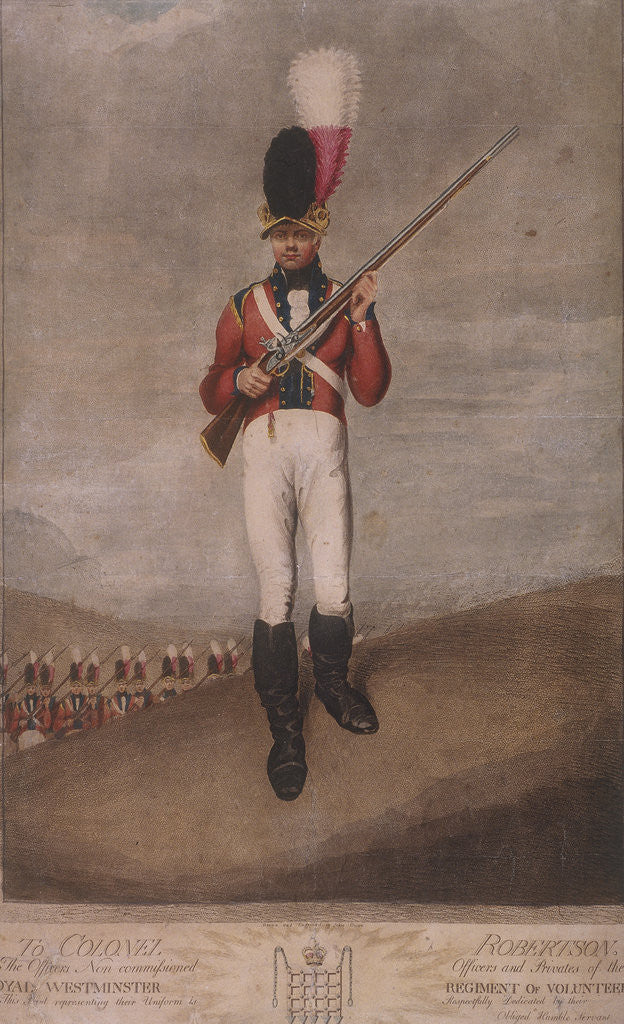 Detail of Military figure in the uniform of the Royal Westminster Regiment of Volunteers by John Dunn