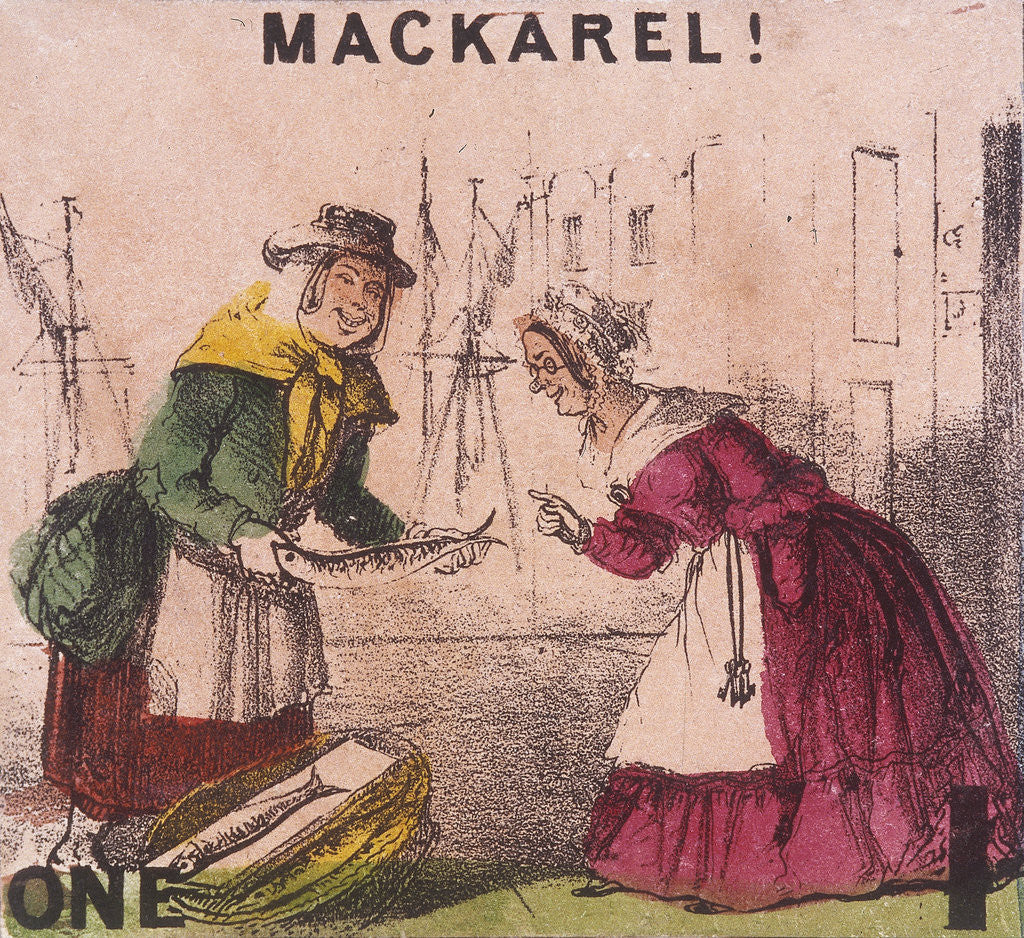 Detail of Mackarel!, Cries of London by TH Jones