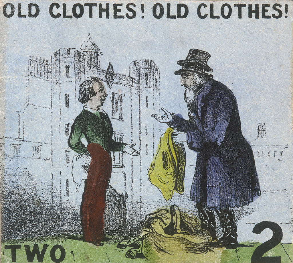 Detail of Old Clothes! Old Clothes!, Cries of London by