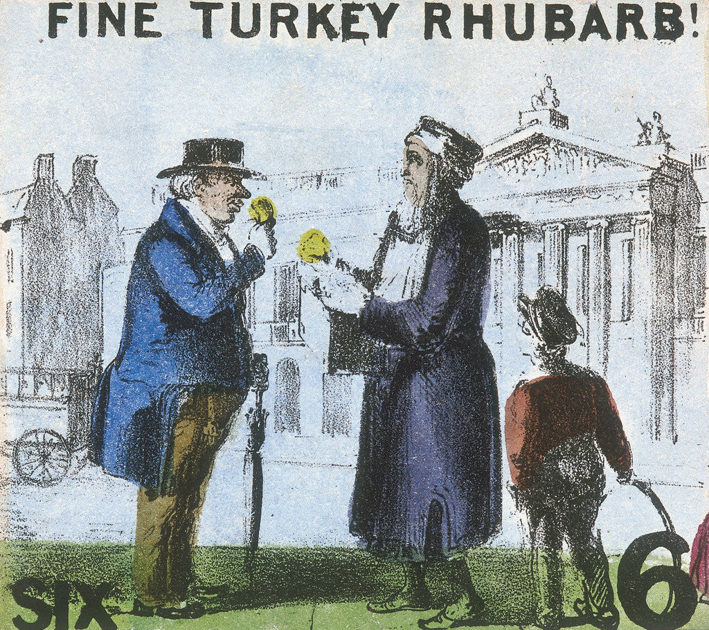 Detail of Fine Turkey Rhubarb!, Cries of London by TH Jones