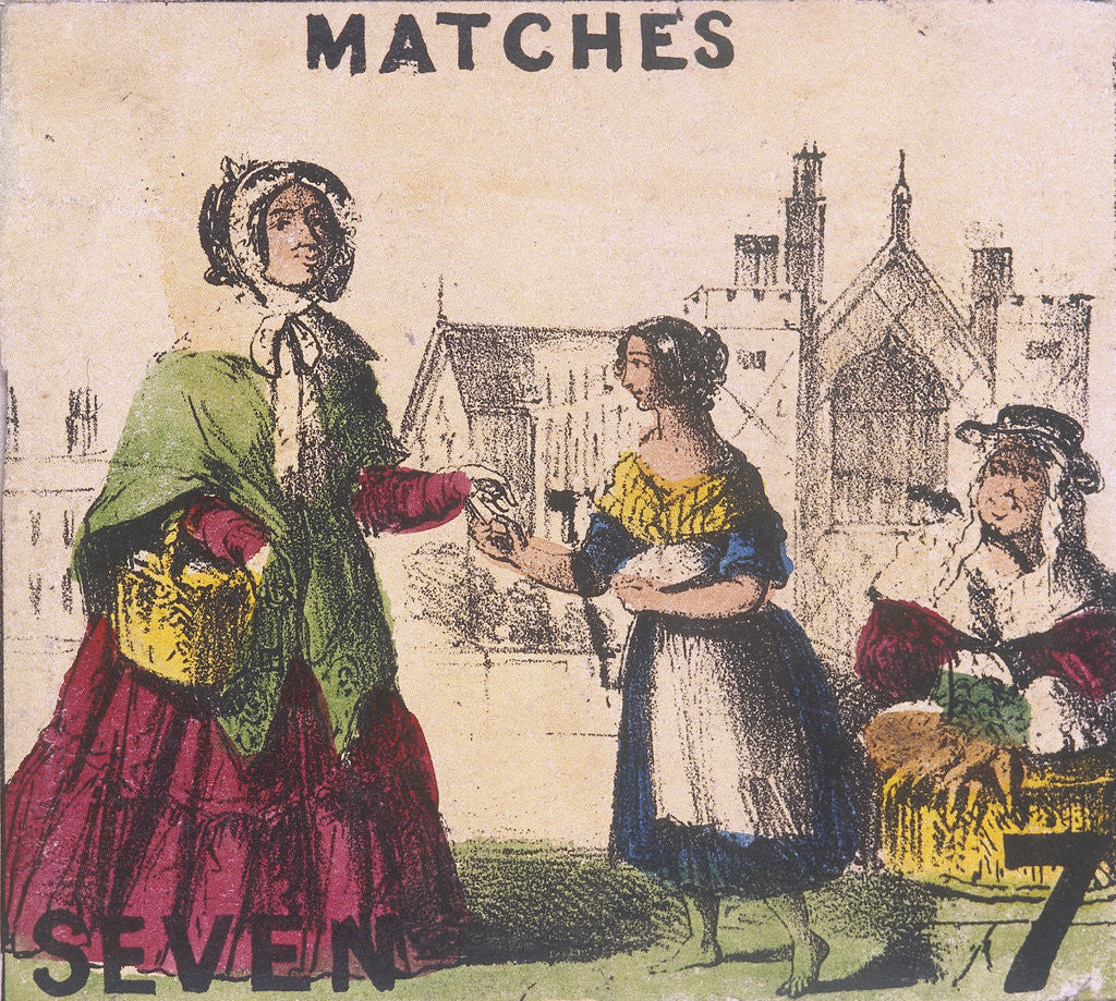 Detail of Matches, Cries of London by TH Jones