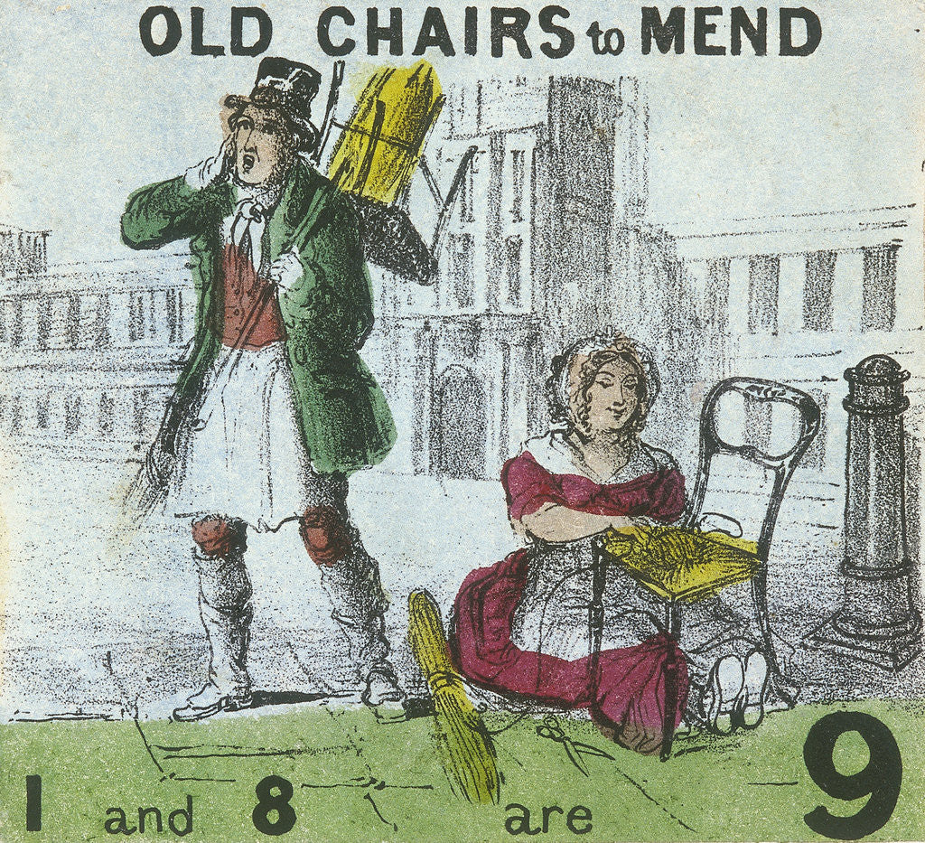 Detail of Old Chairs to Mend, Cries of London by TH Jones