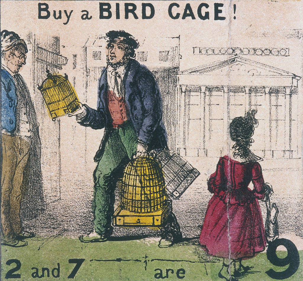 Detail of Buy a Bird Cage!, Cries of London by TH Jones