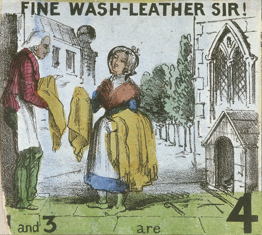 Detail of Fine Wash-leather Sir!, Cries of London by TH Jones