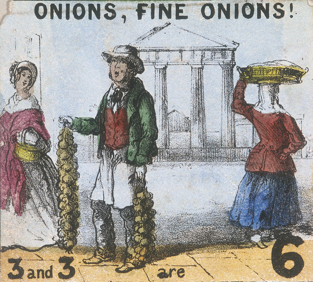 Detail of Onions, Fine Onions!, Cries of London by TH Jones