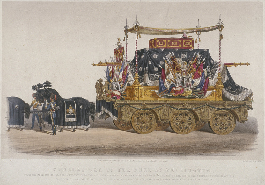 Detail of View of the funeral car of the Duke of Wellington by Richard Redgrave