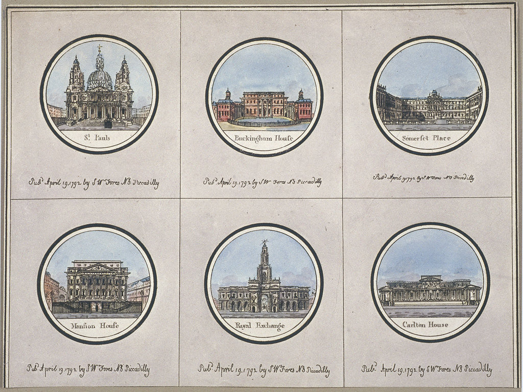 Detail of General views of London by Anonymous