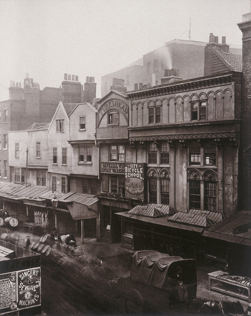 Detail of View of houses and shops in Aldersgate Street by Henry Dixon