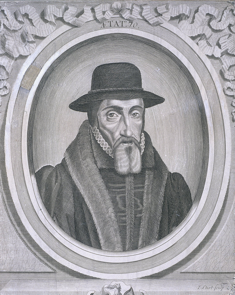 Detail of Oval portrait of John Foxe, c1570 by