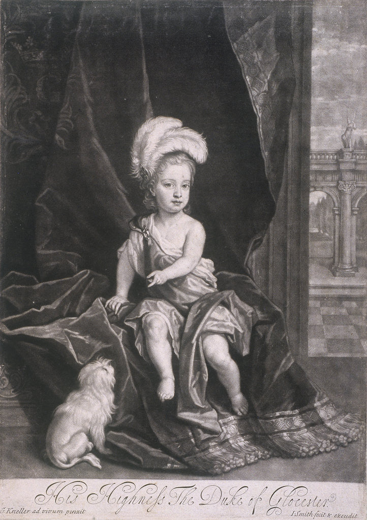 Detail of William, Duke of Gloucester, as a child by Joseph Smith