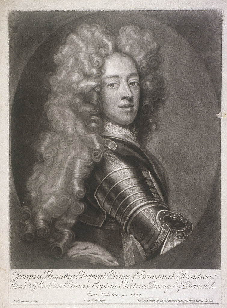 Oval portrait of George II, King of Great Britain by
