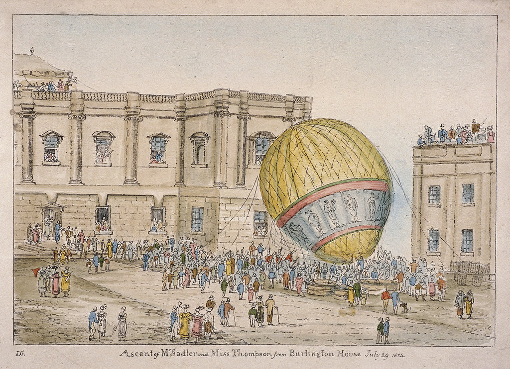 Detail of Hot air balloon in the courtyard of Burlington House, Piccadilly, Westminster, London by