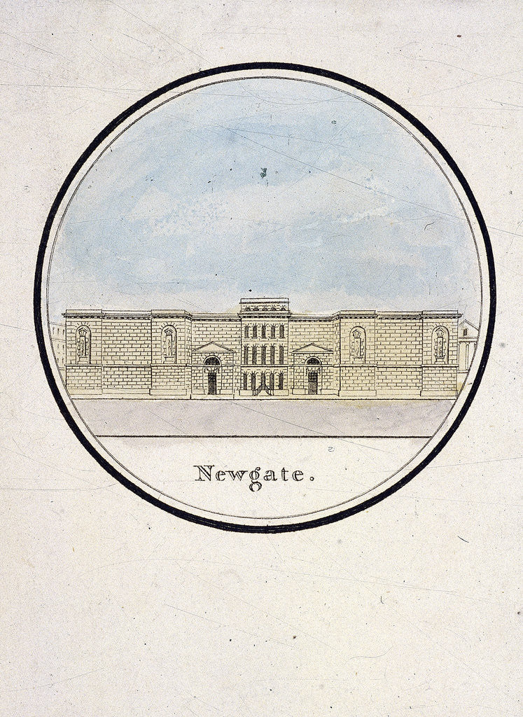 Detail of View of Newgate Prison, Old Bailey, London by Anonymous