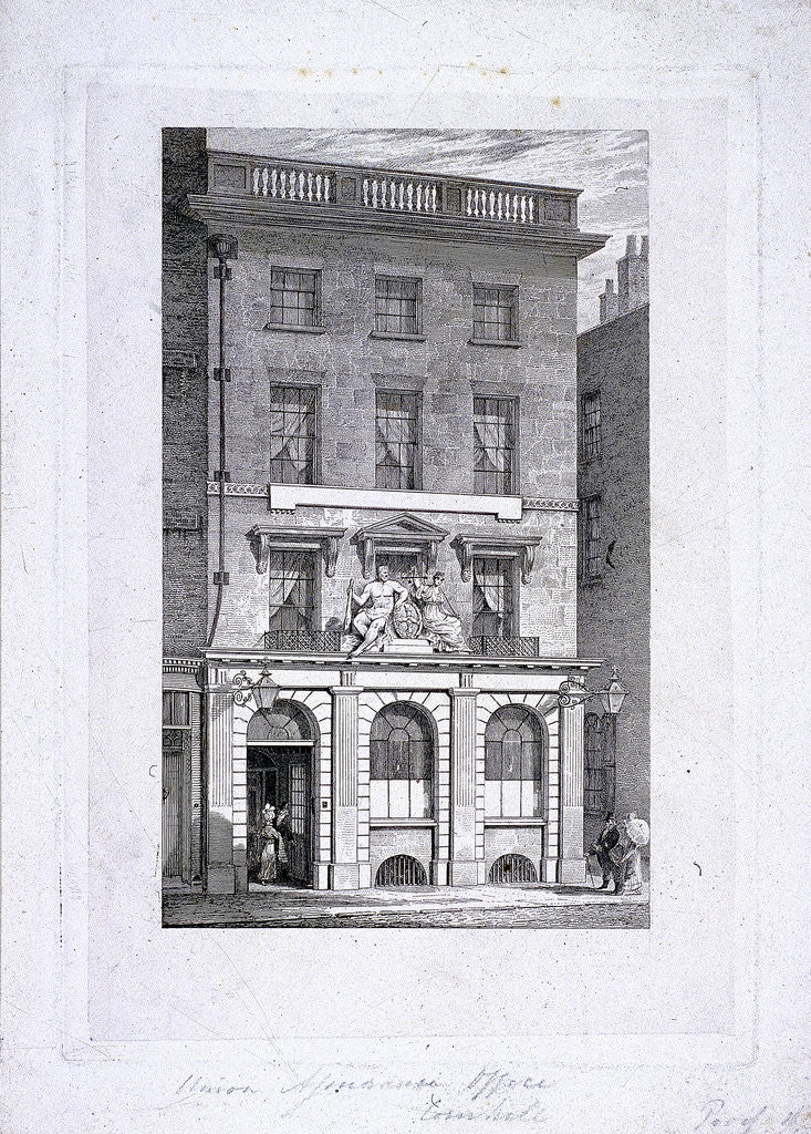Detail of Union Assurance office, Cornhill, London by