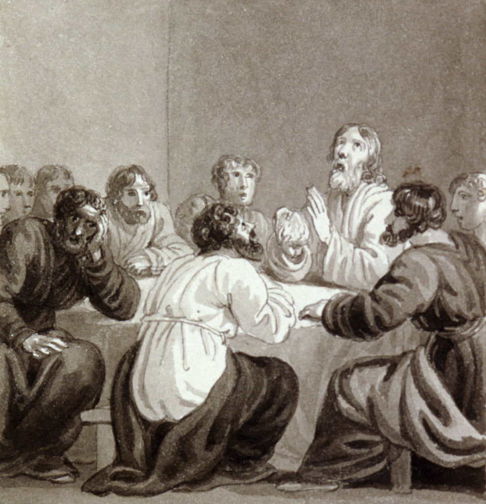 Detail of The Last Supper by Henry Corbould