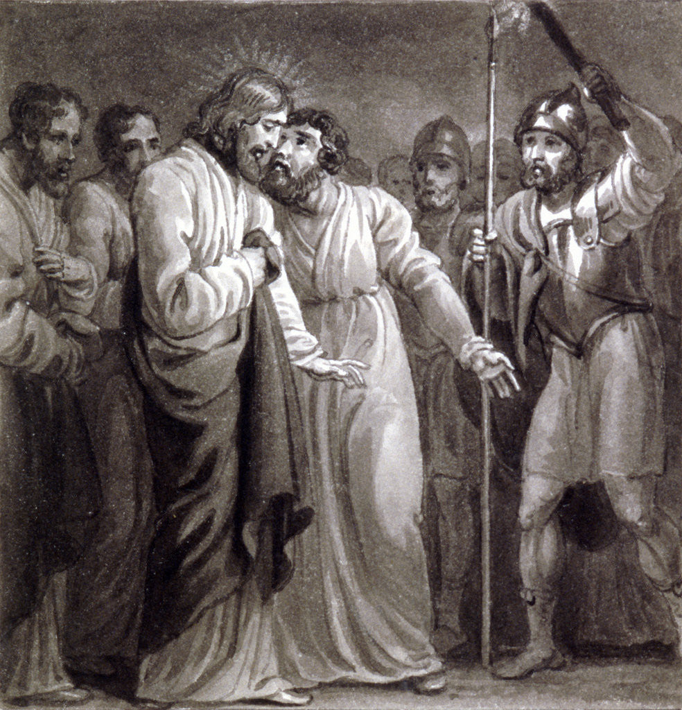 Detail of The Betrayal of Christ by Henry Corbould