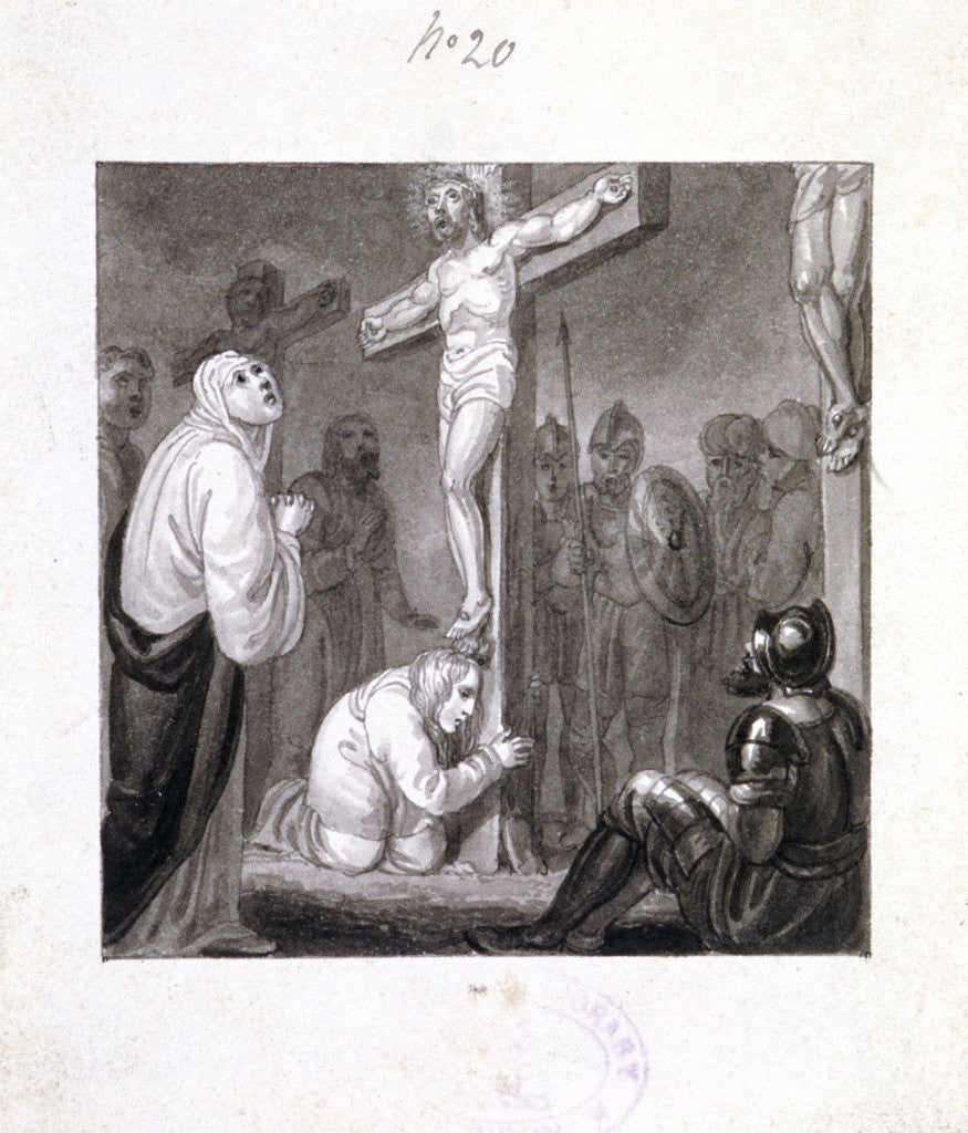 Detail of The Crucifixion by Henry Corbould
