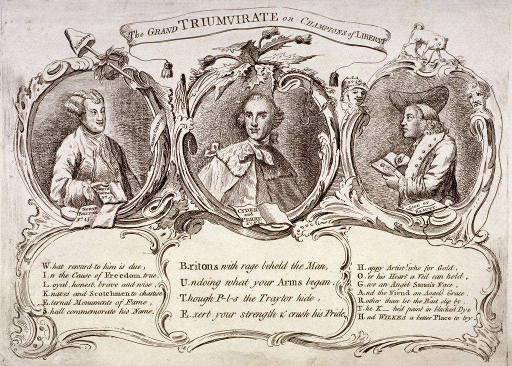 Detail of The Grand Triumvirate or Champions of Liberty ... by Anonymous