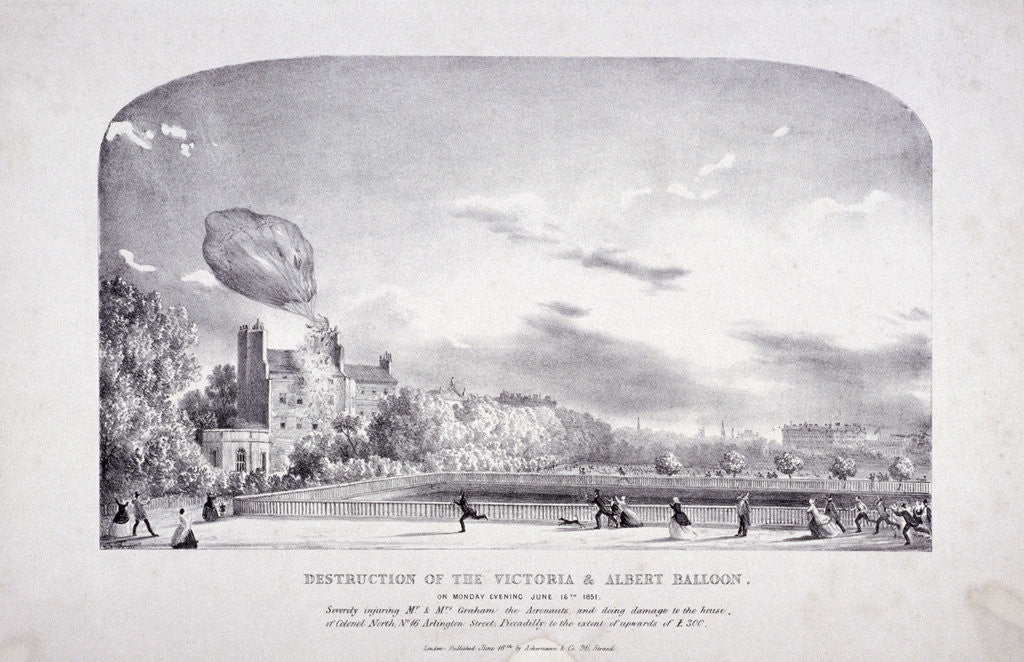 Detail of Destruction of the Victoria & Albert Balloon, Arlington St, Westminster by Anonymous