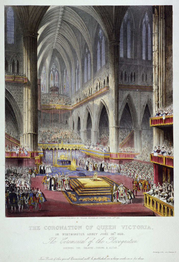 Detail of Coronation of Queen Victoria in Westminster Abbey, London by Anonymous