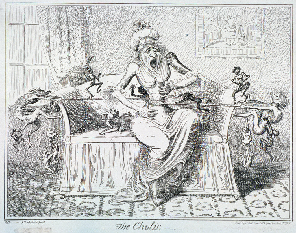 Detail of The Cholic by George Cruikshank