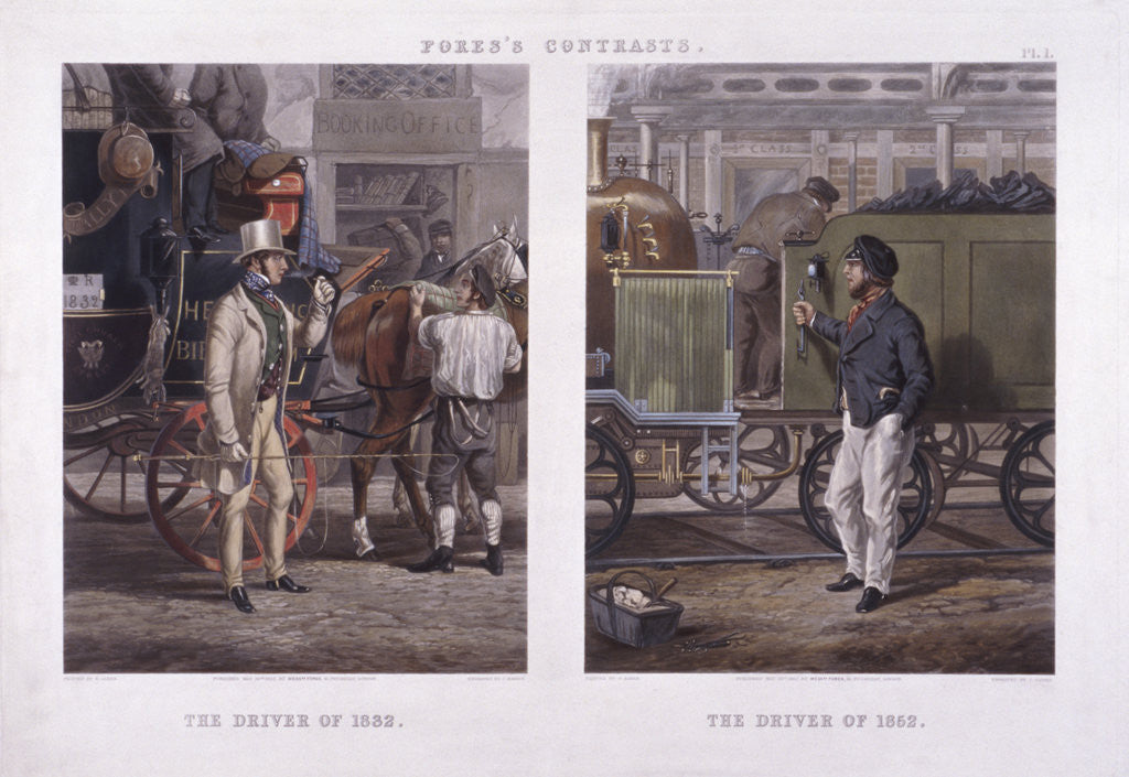 Detail of The Driver of 1832' and 'The Driver of 1852' by J Harris