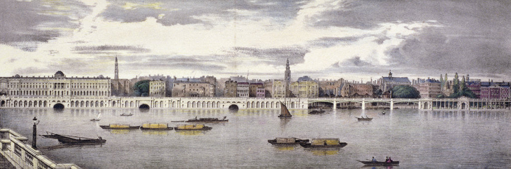 Detail of Proposed view of the River Thames, London by Thomas Mann Baynes