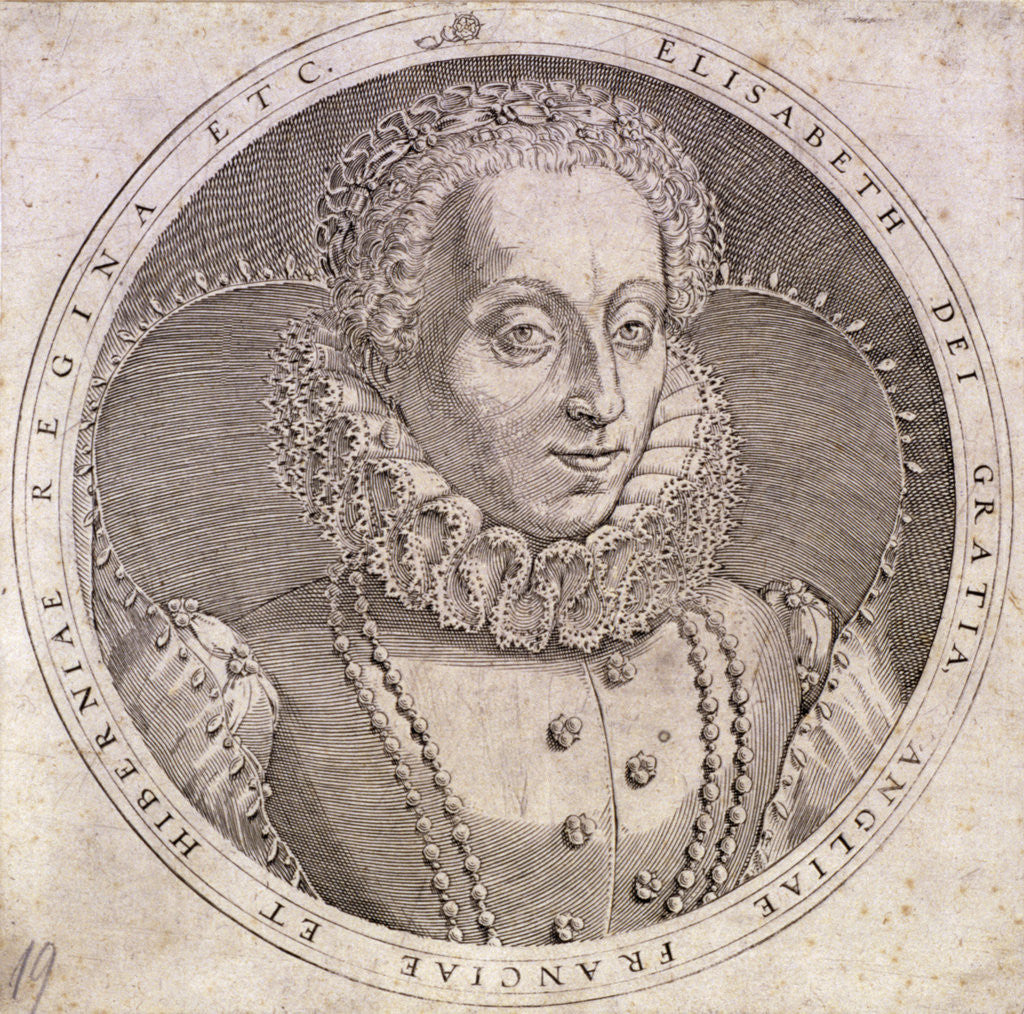 Detail of Queen Elizabeth I by Anonymous