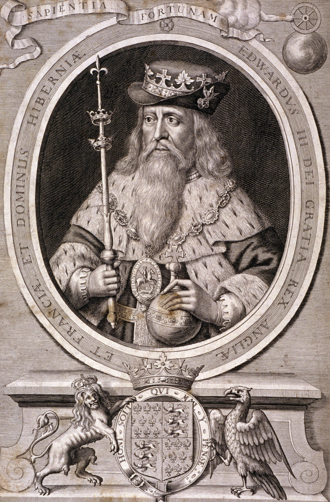 Detail of Edward III, King of England by Anonymous