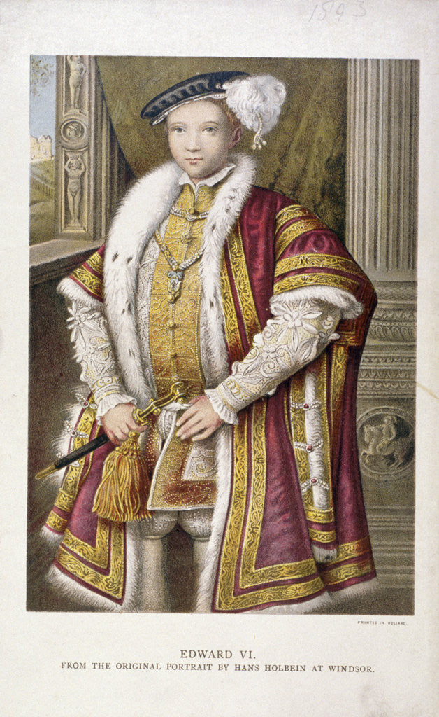 Detail of Edward VI, King of England by