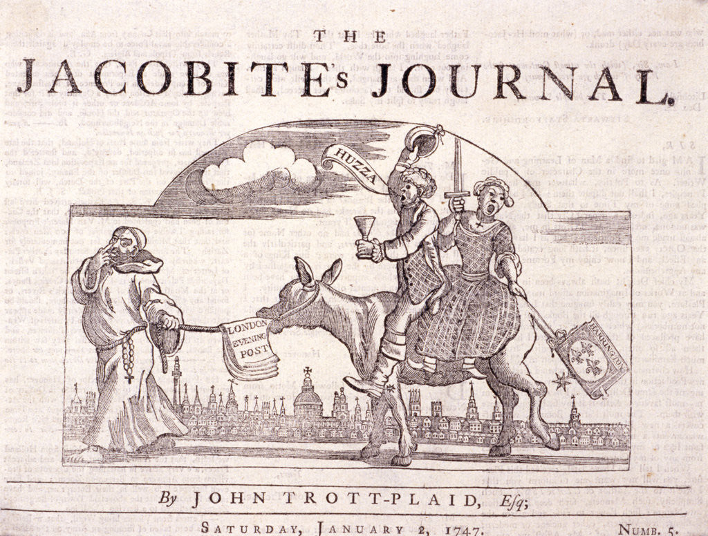 Detail of The Jacobite's journal by William Hogarth