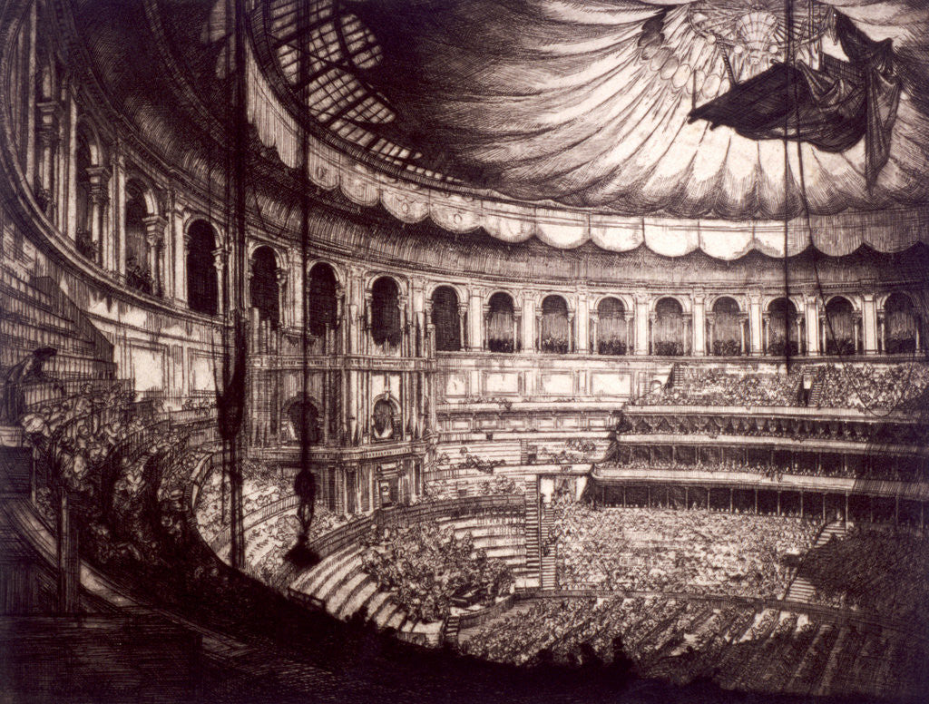Detail of Interior view of the Royal Albert Hall, Kensington, London by
